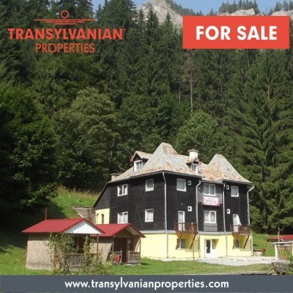 FOR SALE: Bungalow with 9 camping houses (with the opportunity of commercial use) near Lacul Rosu, Transylvania | Price: 200.000 Euro